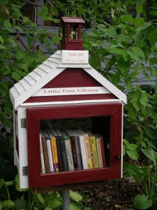 The very first Little Free Library honoring Esther Bols.