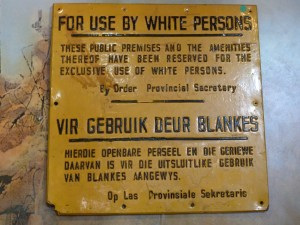 Apartheid era sign--now in the District 6 Museum, Cape Town.