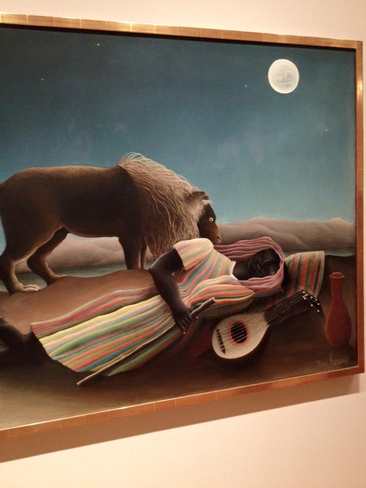 The Sleeping Gypsy by Rousseau (MOMA)